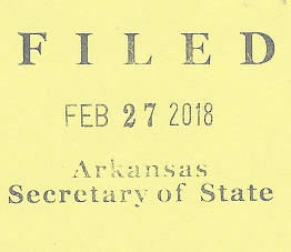 Candidate state filing stamp